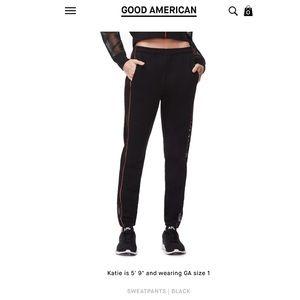 GOOD AMERICAN The Mesh Sweatpants